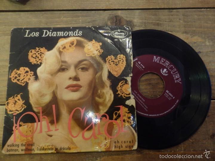 Discos de vinilo: LOS DIAMONDS -EP- OH CAROL + 3 - RARE SPAIN UNIQUE - Foto 3 - 56500819