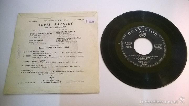 Discos de vinilo: Elvis Presley.Chicas,chicas,chicas.EP.ESPAÑA 1963.RCA VICTOR. - Foto 2 - 56501754