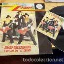 Discos de vinilo: ZZ TOP / SHARP DRESSED MAN ( ULTRA RARO PROMO 3 TEMAS + RARA POSTAL !! IMPECABLE !!!. Lote 35610812