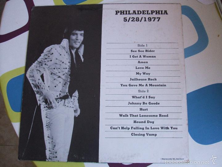 Discos de vinilo: ELVIS PRESLEY / PHILADELPHIA 77 - LP - Foto 2 - 56507856