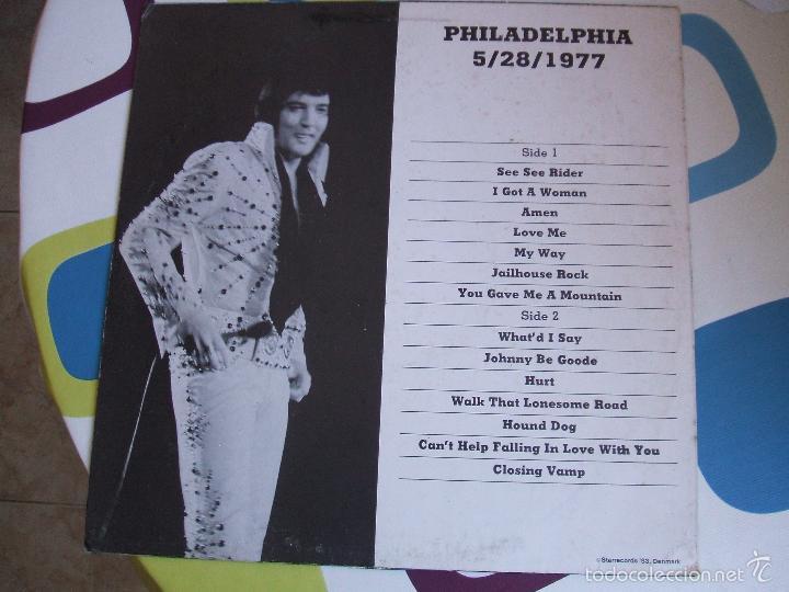 Discos de vinilo: ELVIS PRESLEY / PHILADELPHIA 77 - LP - Foto 6 - 56507856