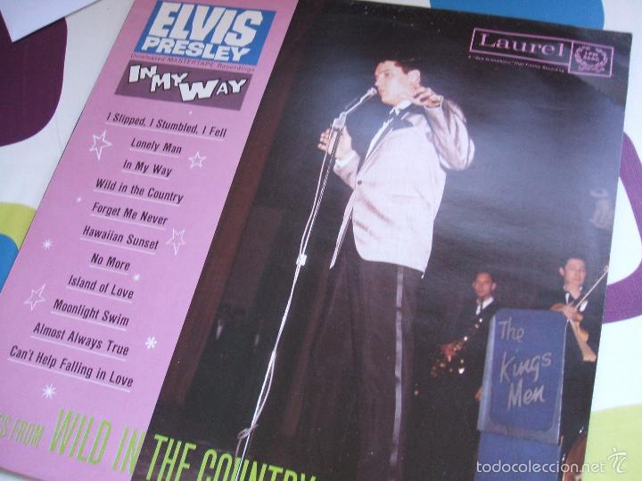 Discos de vinilo: ELVIS PRESLEY / IN MY WAY / LP - LAUREL - *RAREZA - Foto 2 - 56508132