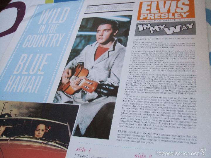 Discos de vinilo: ELVIS PRESLEY / IN MY WAY / LP - LAUREL - *RAREZA - Foto 3 - 56508132