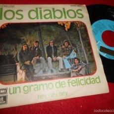 Discos de vinilo: LOS DIABLOS UN GRAMO DE FELICIDAD/HEY,HEY,HEY 7 SINGLE 1974 ODEON PROMO. Lote 56518485