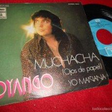 Discos de vinilo: DYANGO MUCHACHA (OJOS DE PAPEL)/YO MAÑANA 7 SINGLE 1973 EMI ODEON . Lote 56518597