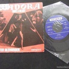 Discos de vinilo: PETER ALEXANDER-DISCO SINGLE-SG10-ISADORA-HAVE A HEART-1969. Lote 56528219