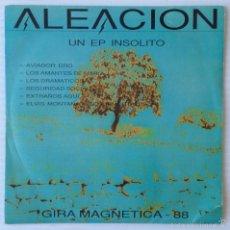 Discos de vinilo: ALEACION. GIRA MAGNETICA 88. LA FABRICA MAGNETICA, 1988. EP PROMOCIONAL.. Lote 56529187