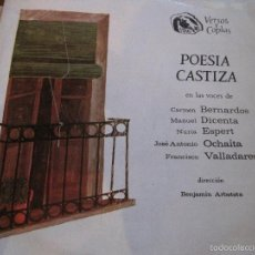 Discos de vinilo: LP-POESIA CASTIZA FIDIAS 031 SPAIN 1968 NURIA ESPERT MANUEL DICENTA FRANCISCO VALLADARES. Lote 56532128