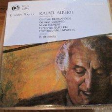 Discos de vinilo: LP-RAFEL ALBERTI FIDIAS 038 SPAIN 1968 GEMMA CUERVO NURIA ESPERT FERNANDO GUILLEN VALLADARES. Lote 56532280