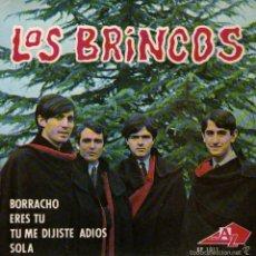 Discos de vinilo: LOS BRINCOS - EP SINGLE VINILO 7'' - EDITADO EN FRANCIA - BORRACHO + 3. Lote 56535083