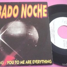 Discos de vinilo: SABADO NOCHE (THE REAL THING + SUGAR HILL GANG)-YOU TO ME ARE EVERYTHING + RAPPER´S DELIGHT SINGLE. Lote 206927466