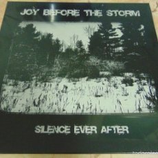 Discos de vinilo: JOY BEFORE THE STORM - SILENCE EVER AFTER - LP ATEMPORAL RECORDS - SYNTH-POP. Lote 56528354