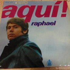 Discos de vinilo: RAPHAEL - AQUI RAPHAEL - LP 1969. Lote 56529572