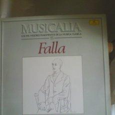 Discos de vinilo: DISCO DE VINILO MUSICALIA- MANUEL DE FALLA. Lote 56540077