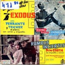 Discos de vinilo: FERRANTE Y TEICHER / EXODO / CREPUSCULO / CHI CHI + 1 (EP 1961). Lote 56542841