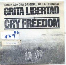 Discos de vinilo: GRITA LIBERTAD / CRY FREEDOM (GEORGE FENTON & KEITH GRANT) SINGLE PROMO 1988). Lote 56543237
