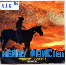 Discos de vinilo: HENRY MANCINI / MIDNIGHT COWBOY / NATALIE (SINGLE PROMO 1970). Lote 56543302