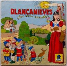 Discos de vinilo: BLANCANIEVES Y LOS SIETE ENANITOS - DIRECTOR: J. CASAS AUGÉ - CUENTO INFANTIL - SINGLE. Lote 56547218