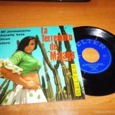 Discos de vinilo: LA TERREMOTO DE MALAGA MI PENSAMIENTO / AQUELLA HORA / DICEN / ADORO EP VINILO 1969 BELTER. Lote 56554699