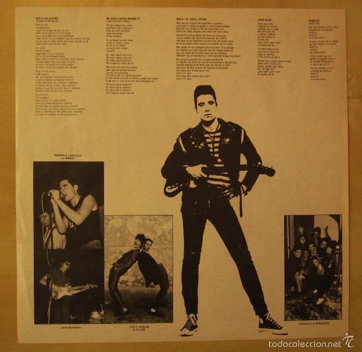 Discos de vinilo: LOQUILLO - LOS TIEMPOS ESTAN CAMBIANDO - VINILO ORIGINAL EDICION HISPAVOX 1985 - Foto 5 - 56556261