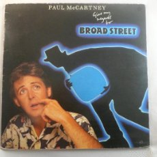 Discos de vinilo: LP PAUL MCCARTNEY. GIVE MY REGARDS TO BROAD STREET. Lote 56565712