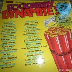 Discos de vinilo: ROCKABILLY DYMAMITE LP - EDICION INGLESA WARWICK RECORDS 1979 - STEREO -. Lote 56571210