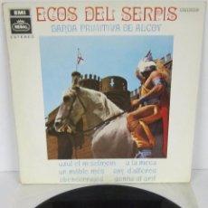 Discos de vinilo: BANDA PRIMITIVA DE ALCOY - ECOS DEL SERPIS / MOROS Y CRISTIANOS - LP - REGAL 1968 SPAIN. Lote 56571472