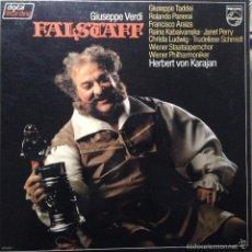 Discos de vinilo: FALSTAFF - VERDI - TADDEI, LUDWIG, KARAJAN. Lote 56572363