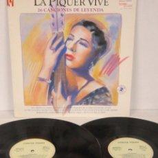 Discos de vinilo: CONCHA PIQUER - LA PIQUER VIVE / ANTOLOGIA - 2 LP - EMI 1991 - 26 CANCIONES DE LEYENDA N MINT. Lote 56572563