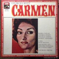 Discos de vinilo: CARMEN - BIZET / MARIA CALLAS 3LP BOX. Lote 56573194