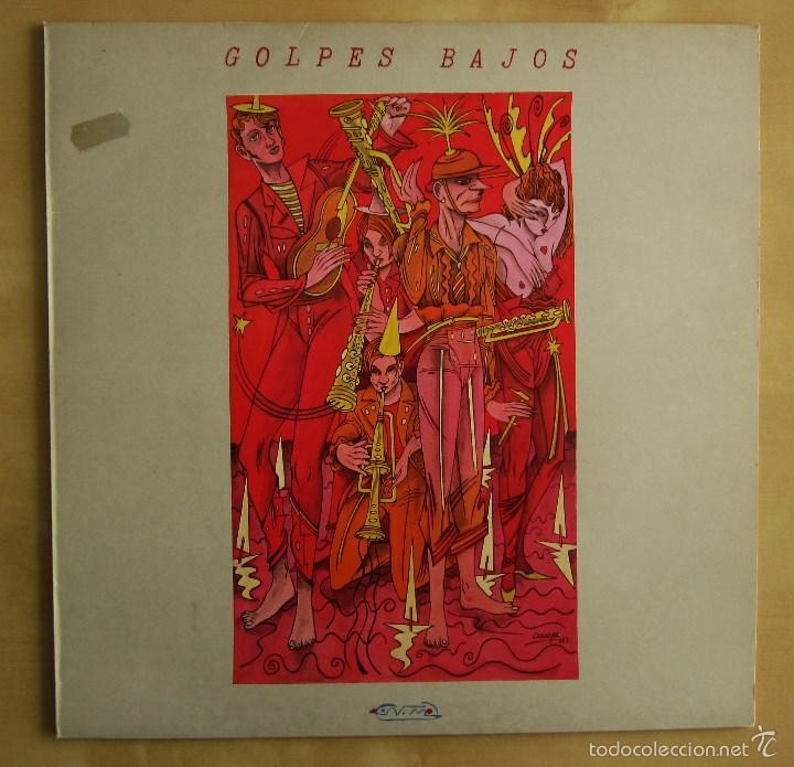 Discos de vinilo: GOLPES BAJOS -GOLPES BAJOS- MINI ALBUM DEBUT VINILO ORIGINAL NUEVOS MEDIOS 1983 EDICIONES NEMO - Foto 2 - 56578125