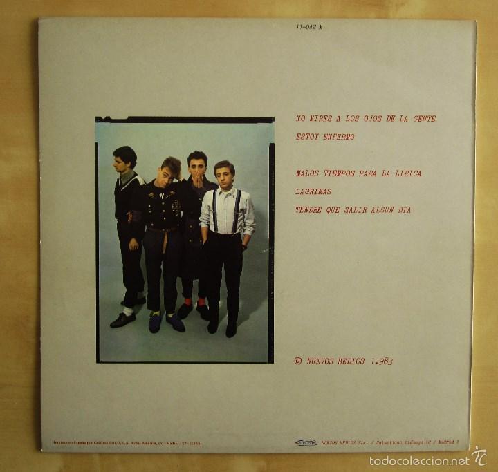 Discos de vinilo: GOLPES BAJOS -GOLPES BAJOS- MINI ALBUM DEBUT VINILO ORIGINAL NUEVOS MEDIOS 1983 EDICIONES NEMO - Foto 3 - 56578125