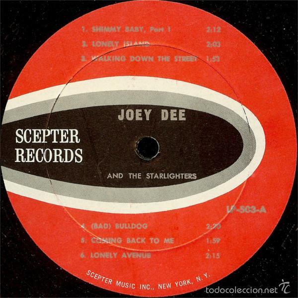 Discos de vinilo: joey dee & the satarlighter - Peppermint Twisters 1961 !! RARA 1ª EDIC ORG USA, EXC - Foto 3 - 56585872