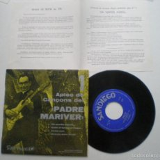 Discos de vinilo: PADRE MARIVER - APLECS DE CANCONS DEL...EP SANDIEGO 1969 // EN CATALAN. Lote 56588056