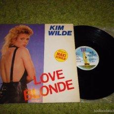 Discos de vinilo: KIM WILDE LOVE BLONDE / CAN YOU HEAR IT MAXI SINGLE VINILO PROMO ESPAÑOL 1983 2 TEMAS. Lote 56590539