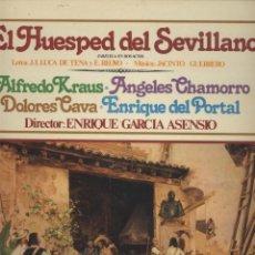 Discos de vinilo: EL HUESPED DEL SEVILLANO-J.I.LUCA DE TENIA-JACINTO GUERRERO. Lote 56594734