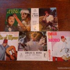 Discos de vinilo: LOTE DE 5 DISCOS EP DE - EMILIO EL MORO- AÑOS 60 Y 70. Lote 56595454