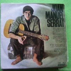 Discos de vinilo: JOAN MANUEL SERRAT EP EDIGSA 1966 CANÇO DE MATINADA/ PARAULES D'AMOR +2 . Lote 56598341