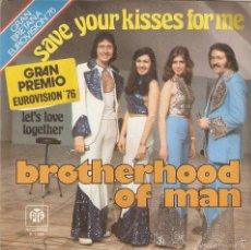 Discos de vinilo: VENDO SINGLE DE BROTHERHOOD OF MAN, (CANCIÓN GANADORA EUROVISIÓN 1976). INFORMACIÓN INTERIOR.. Lote 134129301