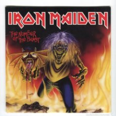 Discos de vinilo: IRON MAIDEN - THE NUMBER OF THE BEAST. REMEMBER TOMORROW (RECORDED LIVE IN ITALY) PRECINTADO. Lote 56610554