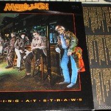Discos de vinilo: MARILLION LP PROMOCIONAL CLUTCHING AT STRAWS ESPAÑA 1987. Lote 133731070