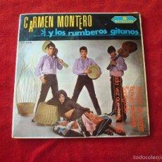 Discos de vinilo: CARMEN MONTERO Y LOS RUMBEROS GITANOS EP EL LUNAR DE MARIA Y 3 MAS 1966 SELLO SESION BUEN ESTADO. Lote 56615127