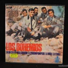 Discos de vinilo: LOS BOHEMIOS - EN UN CELLER MALLORQUIN +3 - EP. Lote 56615894