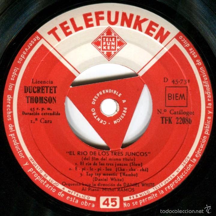 Discos de vinilo: Daniel White + Michel Ramos - El Río De Los Tres Juncos - Ep Spain - Telefunken TFK 22086 - Foto 3 - 56617683