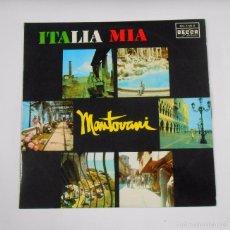 Discos de vinilo: ITALIA MIA. MANTOVANI Y SU ORQUESTA. TDKDA11. Lote 56619695
