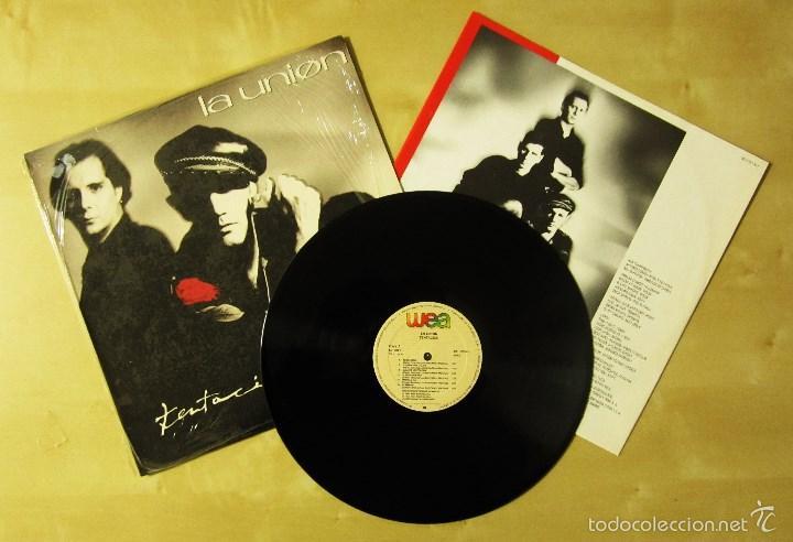 LA UNION - TENTACION - VINILO ORIGINAL PRIMERA EDICION WEA 1990 (Música - Discos - LP Vinilo - Grupos Españoles de los 70 y 80)