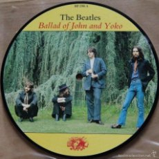 Discos de vinilo: THE BEATLES: BALLAD OF JOHN AND YOKO + OLD BROWN SHOE, PICTURE DISC. Lote 56629058