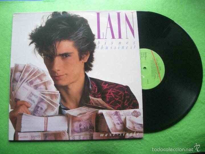 LAIN - BISNES / AGUA CALIENTE - MAXI SINGLE - VIRGIN 1985 (Música - Discos de Vinilo - Maxi Singles - Solistas Españoles de los 70 a la actualidad)