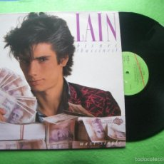 Discos de vinilo: LAIN - BISNES / AGUA CALIENTE - MAXI SINGLE - VIRGIN 1985. Lote 56640886