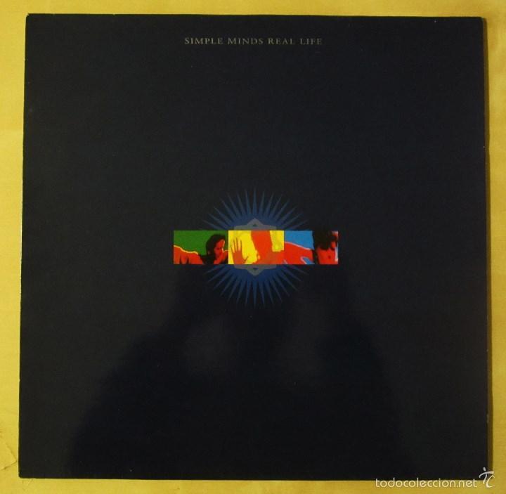 Discos de vinilo: SIMPLE MINDS - REAL LIFE - VINILO ORIGINAL PRIMERA EDICION VIRGIN 1991 - Foto 2 - 56642805